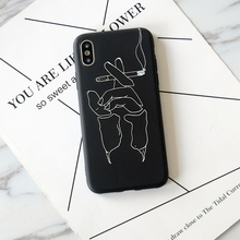 Artistic Abstract Line Phone Case iPhone 5s 6 6s Plus 7 7 Plus 8 Plus X
