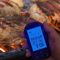 Hot Sale Wireless Digital Meat Thermometer Remote BBQ Kitchen Cooking For Oven Grill Smoker With Timer
