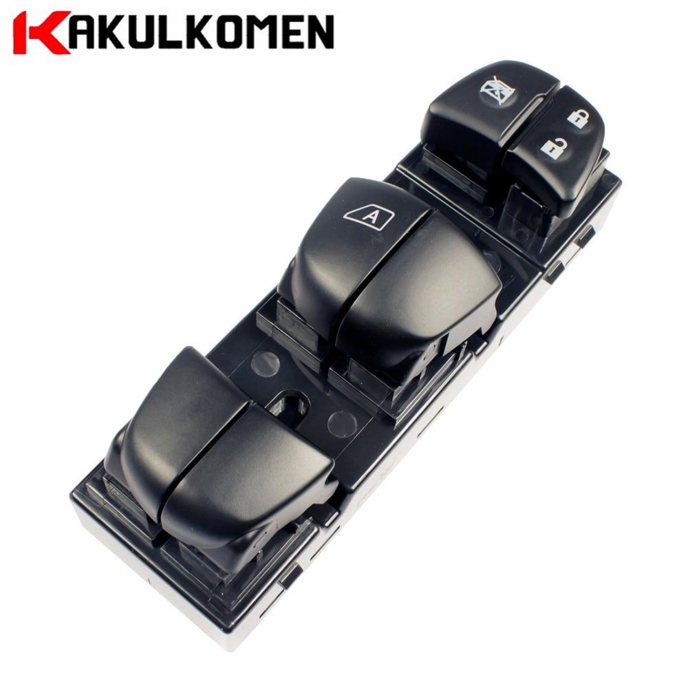 Left Front Electric Power Window Regulator Master Switch 25401-1KA0B For Nissan Juke Leaf Sentra 254011KA0B 25401 1KA0B power window driver door switch for nissan altima 2007 2012 25401 zn50c