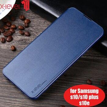 Funda de cuero de lujo con tapa funda para Samsung Galaxy S7 S6 Edge S8 S9 S10 Plus funda para Samsung Note 8 Note 9 S10 Lite