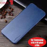 leather flip Luxury Leather Flip Case For Samsung Galaxy S7 S6 Edge S8 S9 S10 Plus Phone Flip  Case For Samsung Note 8 Note 9 S10 Lite Cover (1)