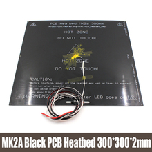 MK2A 300 300 2 0mm 12v RepRap RAMPS 1 4 PCB Heatbed LED Resistor Cable Thermistors