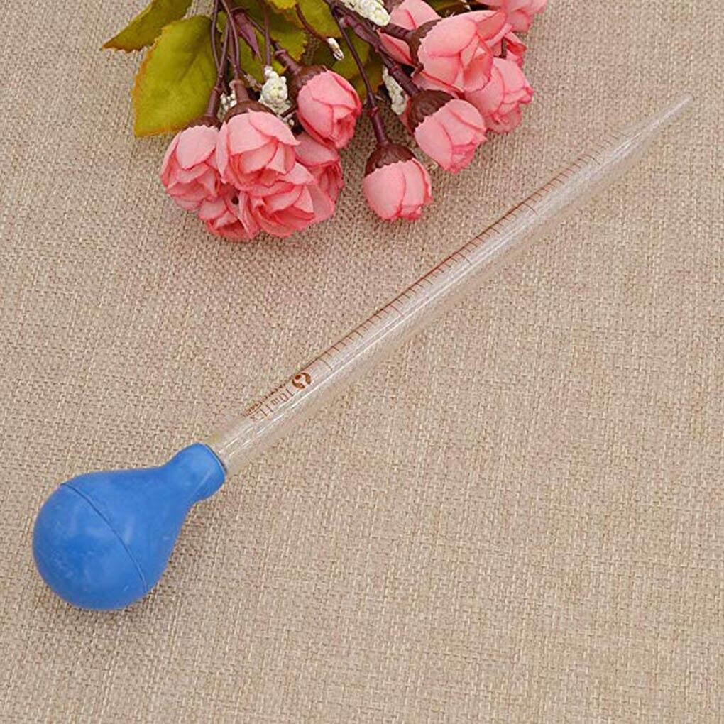 10ml Glass Scale Line Dropper Pipette Lab Dropper Dropping Pipet Blue Rubber Head Pipettors