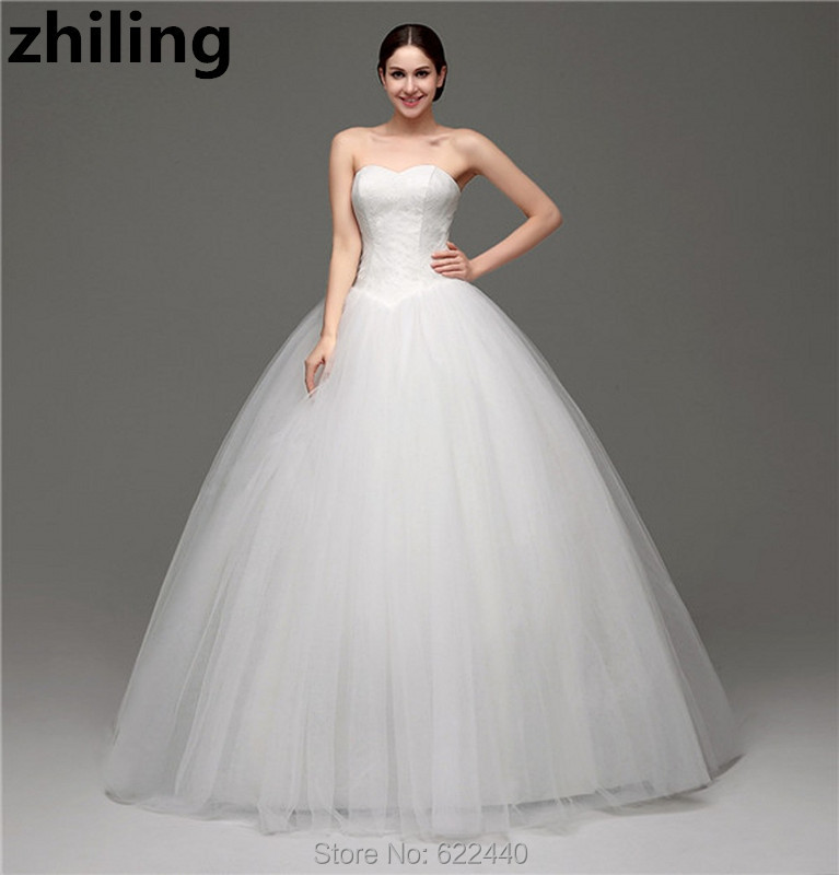 Custom Made Charming Ball Gown Wedding Dresses Floor