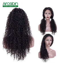 Indian Kinky Curly Lace Front Wig AirCabin Remy Hair Wig with Baby Hair Lace Front Human Hair Wigs Lacefront Wig Peruca Humana virgin kinky curly lace wig 7a mongolian lace front human hair wig glueless afro kinky curly full lace human wigs with baby hair