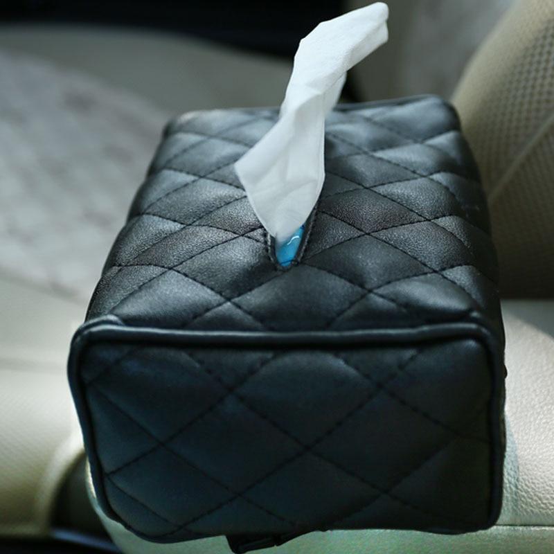 16*11.5*7cm Stylish Elegant Royal Durable PU Leather Crocodile Pattern Household Tissue Box Holder for Home /Office /Car