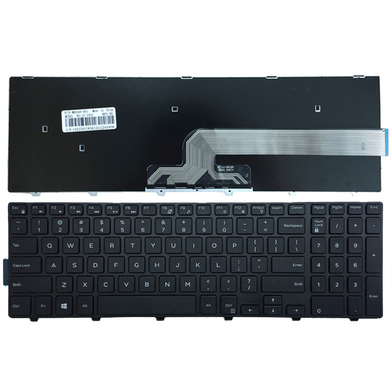 English Laptop Keyboard for Dell Inspiron 15 5543 5548 Vostro 3546 3558 3559 MP-13N73US-442 0KPP2C Keyboard Black with Frame кольцо snow queen divetro кольцо snow queen