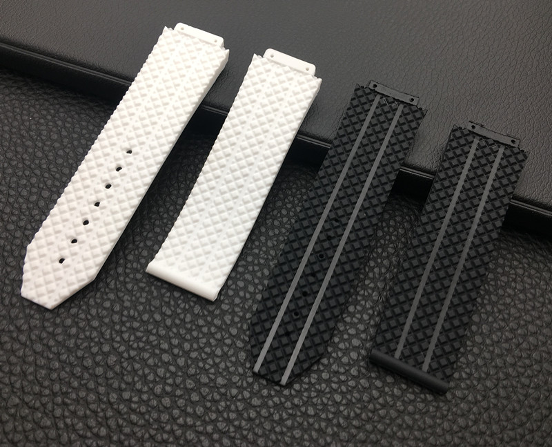 Watchband accessories Silicone For Hublot strap for Big Bang Watchbands 25*17mm Belt watch band with logo stainless buckle tools
