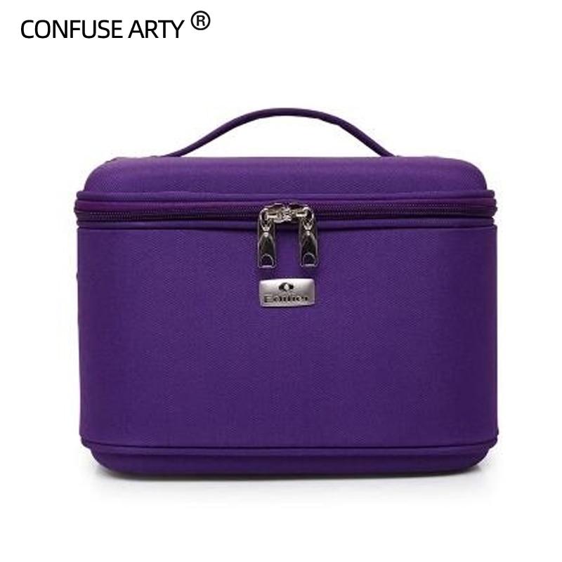 Makeup Organizer Waterproof Makeup Bag Travel Organizer Cosmetic Bag For Women Travel Large Capacity Storage Case Suitcases 40Z