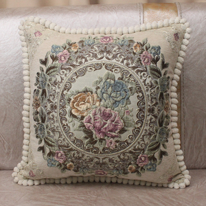 Image 3 - CURCYA Luxury Chenille Jacquard Elegant Cushion Covers for Sofa Home Decorative Pillow Case Cover European Floral Christmas Gift