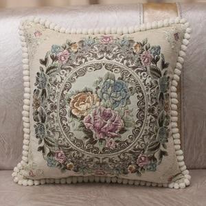 Image 3 - CURCYA Luxus Chenille Jacquard Elegante Kissen Abdeckungen für Sofa Zu Hause Dekorative Kissen Fall Abdeckung Europäischen Floral Weihnachten Geschenk