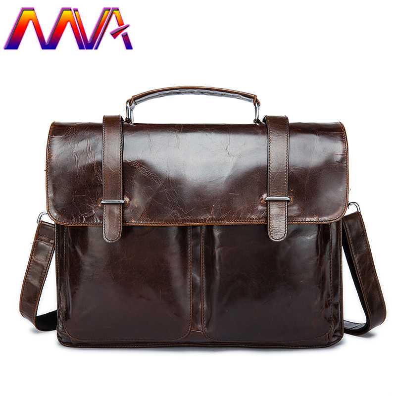 MVA 100% genuine leather men briefcase with top quality cow leather laptop shoulder bag men leather briefcase of men handbag mva men leather briefcase 100