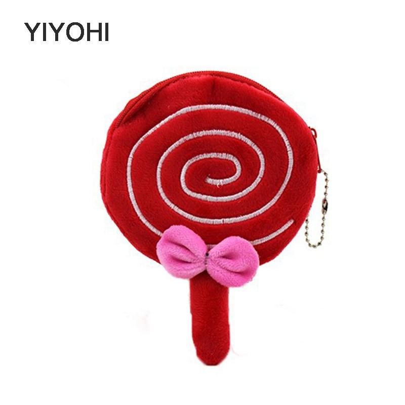 YIYOHI Lovely Lollipop zipper font b Children b font Coin font b Purse b font Coin