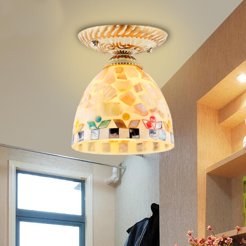 Mediterranean entrance ceiling lights European style garden wind bedroom lamps aisle balcony light corridor single head lamp new entrance lights balcony lamp aisle lights corridor lights small crystal ceiling light small lamp stair lamp lamps