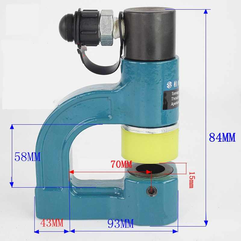 5//8 punch dies IBOSAD Hydraulic Sheet Metal Hole Punching Down Tool Hole Making Tool Hole Digger Busbar Puncher For Iron Plate Copper Bar Aluminum Stainless Steel