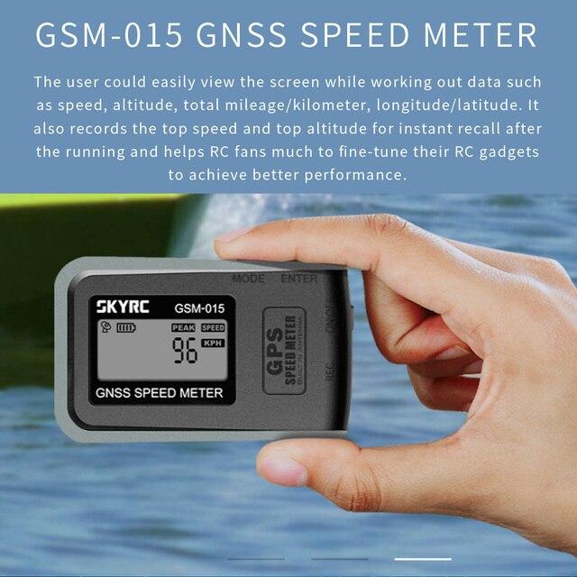 SKYRC Medidor de velocidad GPS GNSS para Dron, velocímetro GPS de alta precisión, GSM 015, para cuadricóptero multirrotor, helicóptero FPV