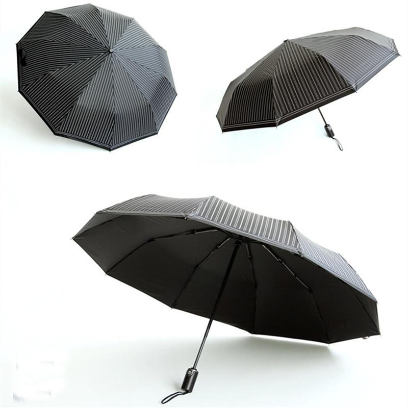 Quality 10 Rib Strong Automatic men's umbrellas folding /windproof - Household Merchandises - Photo 5