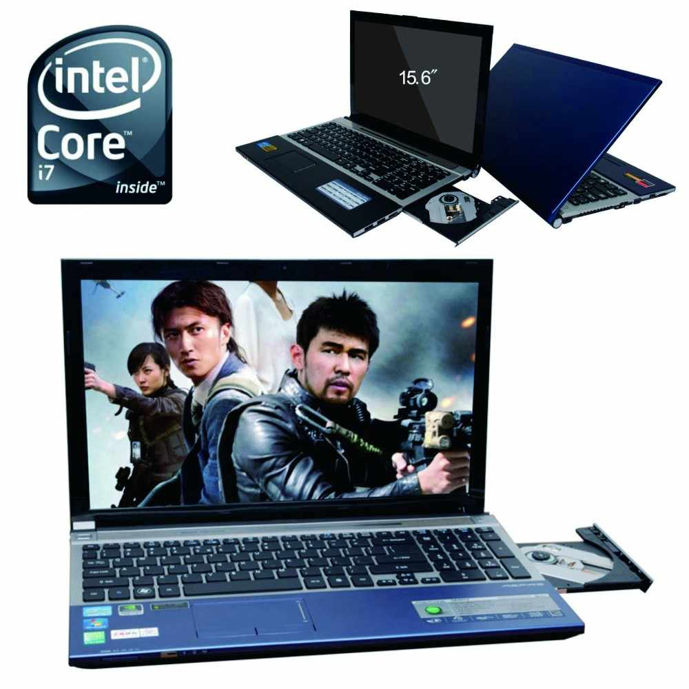 8G DDR3 1000G HDD game Laptop 15.6 inch Intel Core i7 Dual-core Windows 10 Notebook Computer with Built-in WIFI Bluetooth DVD-RW
