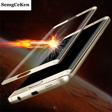 SemgCeKen full 3d curved edge tempered glass film for samsung galaxy s7 s7edge 9h front protective screen protector