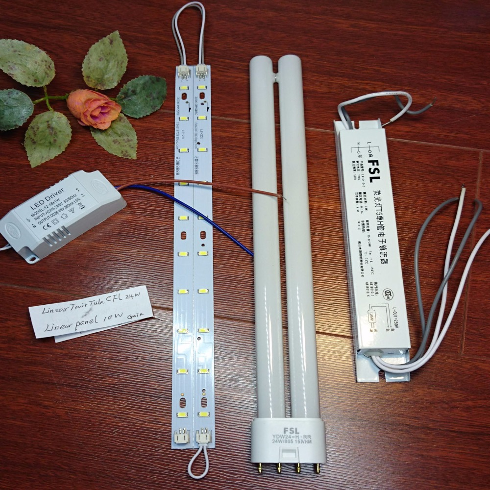 hight resolution of 24w compact fluorescent linear twin tube light bulb ballast led retrofit 10w with driver replace 24w tube ballast in energy saving fluorescent from