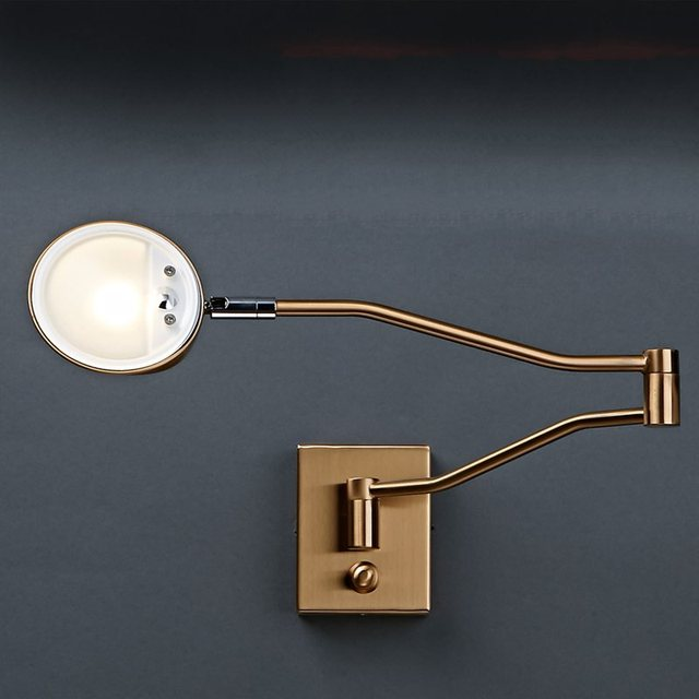 Led Reading Lamp Arm Wall Bedside Bed Side Retractable Light Lamps Bedroom  Modern Creative
