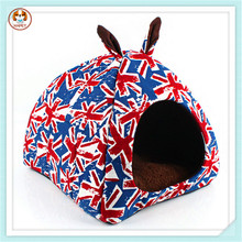 Double Ear Nest Mongolia British Union Jack Pet House Dog Bed