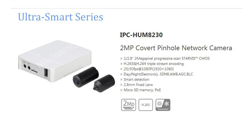 Free Shipping DAHUA Security IP MINI Camera 2MP Covert Mini Network Camera With POE without Logo IPC-HUM8230 gerber mini covert 22 46924