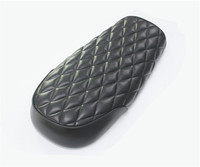 530mm Motorcycle Universal Black Brown Seat Vintage Flat Motorcycle Seat Cafe Racer Motorcycle Rhombus Cushion for CG125