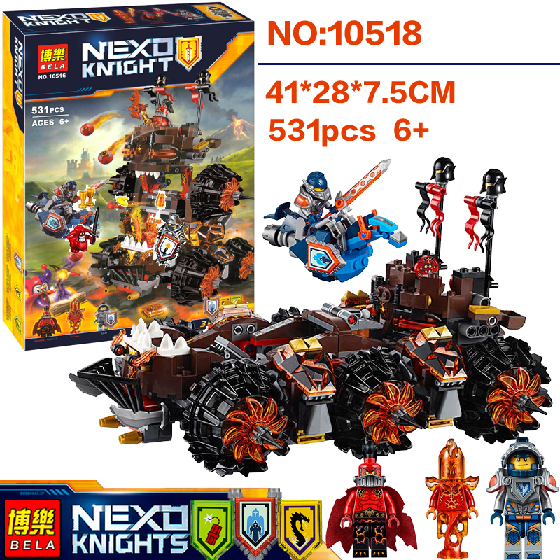 5370321 Nexo Knights General Magmars Siege Machine of Doom Marvel Building Blocks Toys Minifigures Model bricks Nexus toy
