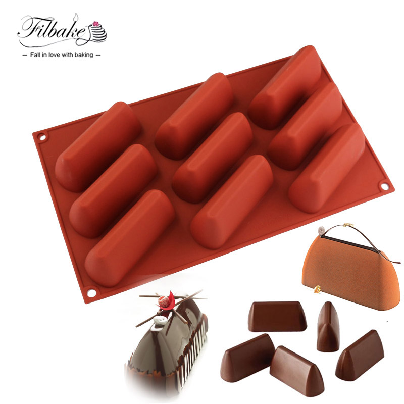 FILBAKE Baking Decorating Toos 3D 9 Cavity Rectangle Hill Shaped