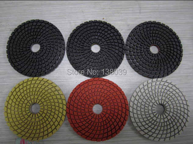 4'' Best Quality Diamond Wet Flexible Polishing Pads For Granite And Other Hard Stone