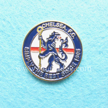 Пользовательские металлические круглые футбольные мягкие эмалированные болельщики значки со штырьками льва OEM ODM Услуги броши