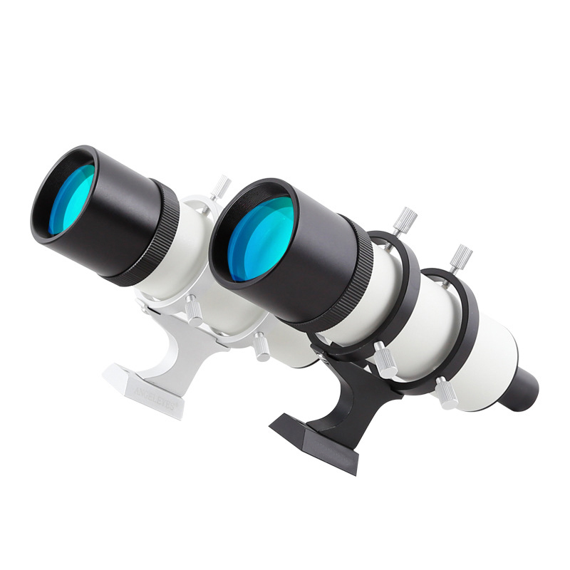 50mm Finderscope in Different Magnifications Metal Monocular Finder Scope with Visual Cross Reticle for Astronomical Telescopes