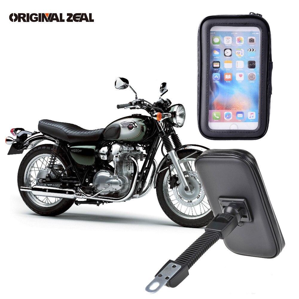 2018 Rückspiegel Motorrad Telefon Halter Ständer Unterstützung für iPhone6 7 8 Plus X GPS Halter Wasserdichte Tasche Soporte Celular moto