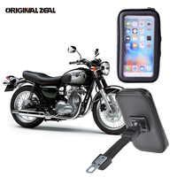 2018 espejo retrovisor Soporte para teléfono de motocicleta Soporte para iPhone6 7 8 Plus X GPS bolsa impermeable Soporte Celular moto