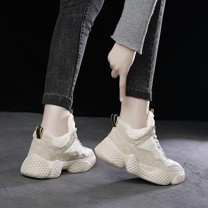 Nouveau Coton Fourrure Le 2018 Épais Éponge Plus 2 De En Cuir Gâteau Chaussures Bas Vieilles Velours 1 ROwnpqdTwY