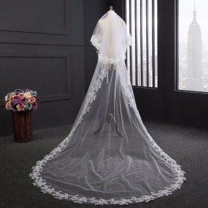 Image 2 - wedding accessories 3 meter blusher wedding veil long wedding veil bridal veils  veils for bride with comb WAS10072