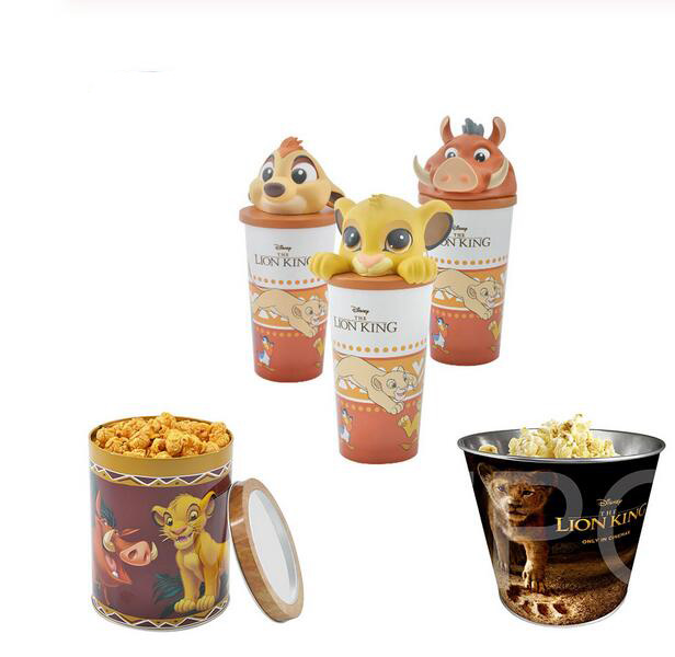 New Movie The Lion King Simba Mufasa Figure Cup Model Toys  Popcorn Barrel Gift Toys For Children Funs