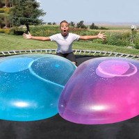 110cm big amazing bubble ball Water filled interactive rubber balls Outdoor Inflatable funny ballon toys For Children Adult