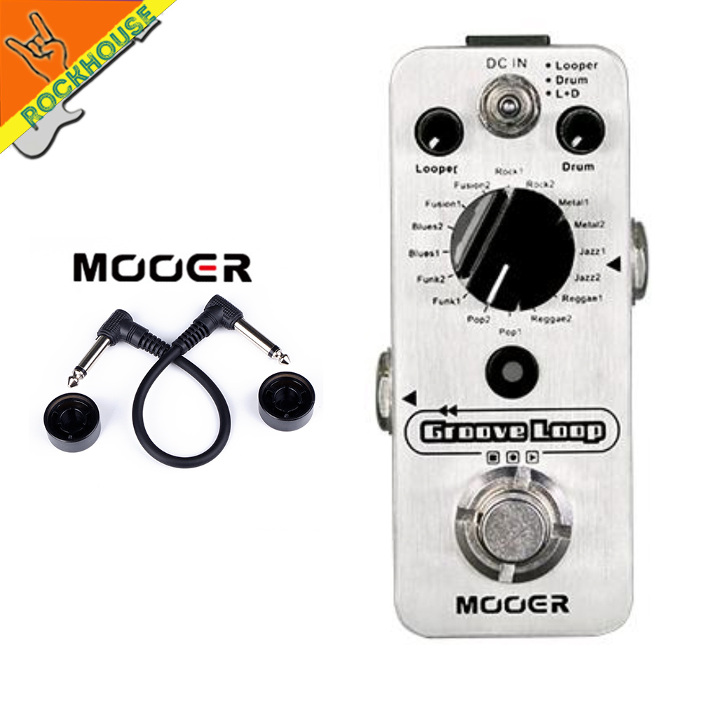 mooer groove loop guitar effects pedal looper pedal 20 minutes recording time with drum patterns. Black Bedroom Furniture Sets. Home Design Ideas