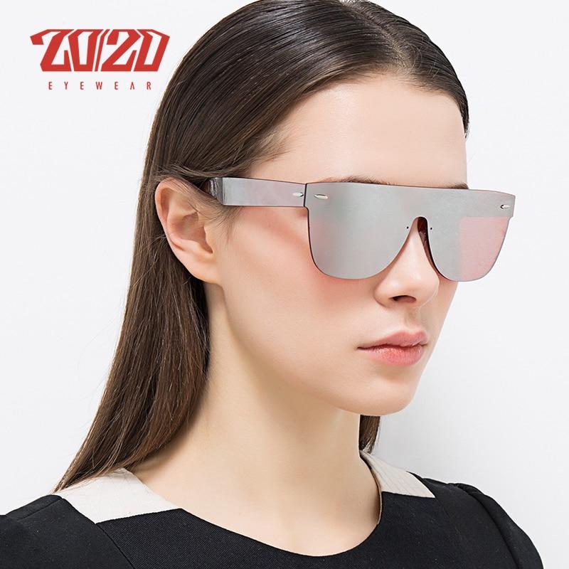 Image 2 - 20/20 Brand New Sunglasses Men Travel Driving Mirror Flat Lens Rimless Women Sun Glasses Eyewear Oculos Gafasbrand new sunglassesnew sunglassesflat lens -