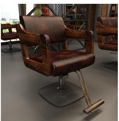 Купить с кэшбэком Wood Salon Chair Barber Shop Dedicated Hair Chair High-end Hair Salon Chair Wood Hot Dyeing Chair