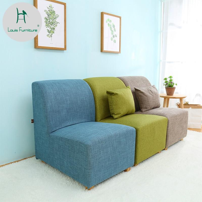 Louis Fashion Living Room Sofas Lazy Single Person Small
