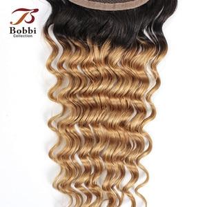 Image 5 - Bobbi Collection T 1B 27 Vetersluiting Ombre Honing Blond Donker Bruin Kleur 2 Kleur 4 Diepe Golf Braziliaanse Non  Remy Human Hair