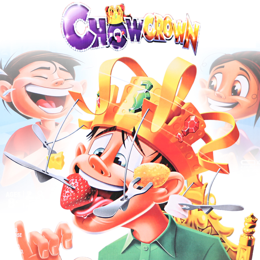 CHOW CROWN Funny Game Eat The Spinning Snacks Before The Music Stops For Family Party Challenge Game Crown Taste Food Game Toy