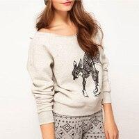 High Quality 2016 Women Hoody Christmas Sportwear Harajuku Deer Printed Sweatshirt Pullover Moleton Feminino Fleece Sweatshirts