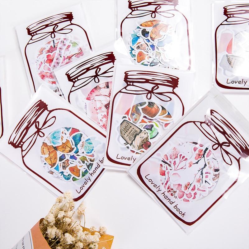 45 Pcs/Set Kawaii Scrapbook Stickers Food Flower Butterfly ...