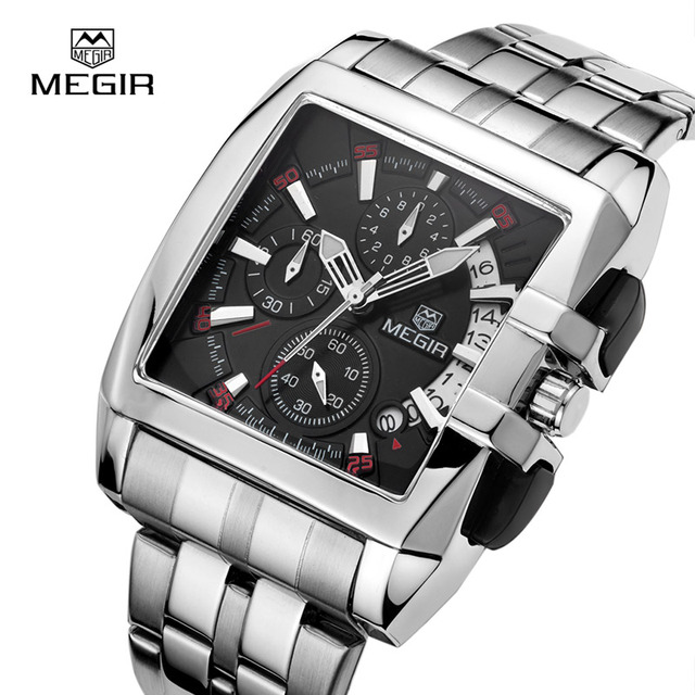 Megir New Business Men's Quartz Watches Fashion Brand Chronograph Wristwatch For Man Hot Hour For Male With Calendar 2016