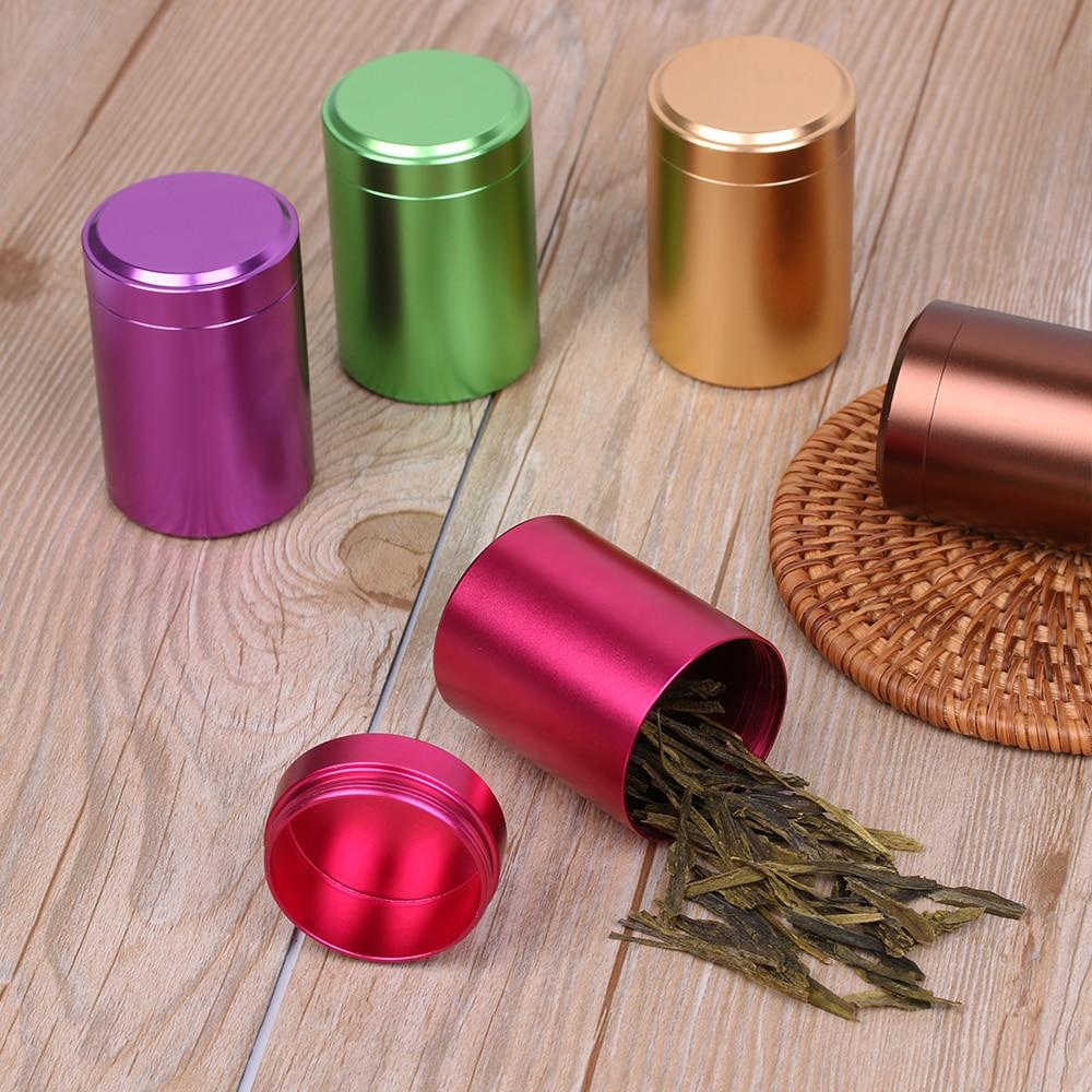 1 Pz Mini Portatile In Metallo Aluminirtight Odore Di Alluminio A Prova Di Erba Contenitore Herb Grinder Tubo Pillola Scatola Da Tè Di Viaggio Contenitore Sigillato