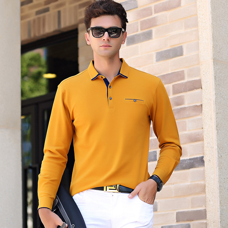 2018 Smart Casual cotton Men   Polo   Shirt With Pocket Mens Long Sleeve Solid   Polo   Shirts Camisa   Polos   shirt men brand